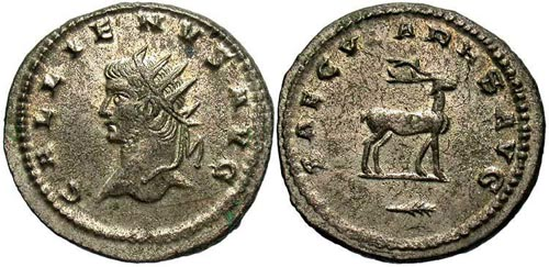 Les erreurs des monétaires sur les monnaies romaines Gallien_antoninien_saecvlares_avg