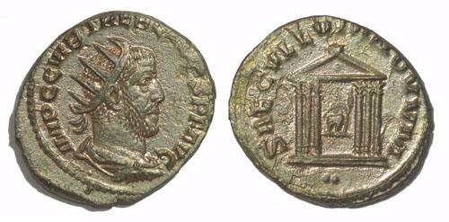 Les erreurs des monétaires sur les monnaies romaines Antoninien_saecullum