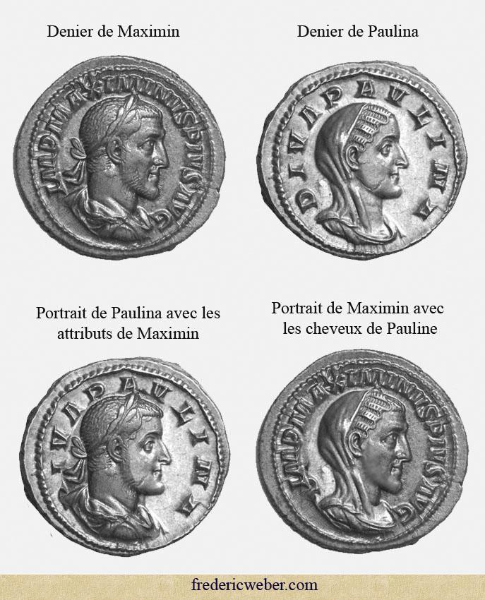 Ressemblance entre l'impératrice et l'empereur Maximin_paulina