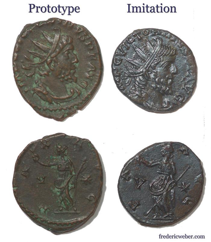 Les imitations radiées et monnayages de nécéssité au IIIe s Victorin-2
